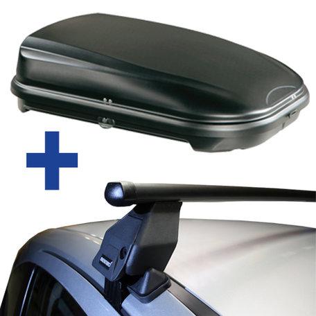 Dakdragers + Dakkoffer Fiat Grande Punto 3 deurs hatchback 2005 t/m 2012
