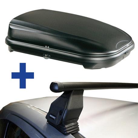 Dakdragers + Dakkoffer Fiat Idea 5 deurs hatchback 2005 t/m 2012