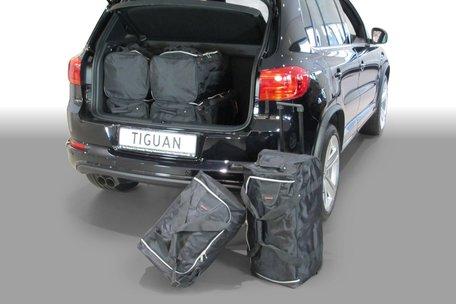 Carbags tassenset Volkswagen Tiguan (5N) 2007-2015 (diepe laadvloer)