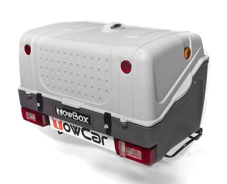 TowBox V1 Grijs bagagebox voor op de trekhaak 350 liter