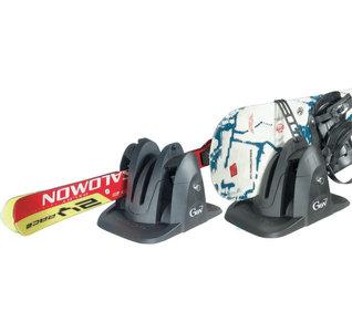 Magnetische skidrager Shark voor 2 pr ski's of snowboards met slot